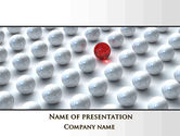 Consulting: Red Among Whites PowerPoint Template #09521