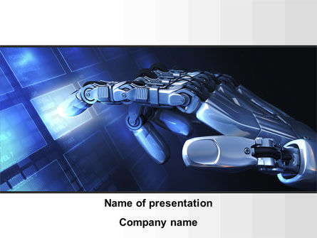 Manipulator PowerPoint Template, 09522, Technology and Science — PoweredTemplate.com