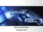 Technology and Science: Manipulator PowerPoint Template #09522