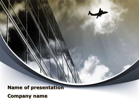 Area Of Departure PowerPoint Template, 09523, Cars and Transportation — PoweredTemplate.com