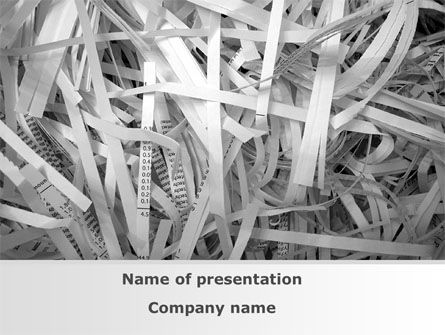Sliced Paper PowerPoint Template, 09526, Consulting — PoweredTemplate.com