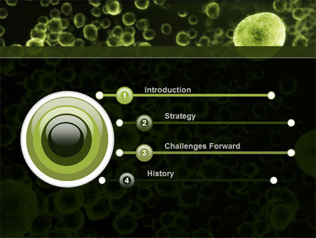green bacteria powerpoint template, backgrounds | 09527, Modern powerpoint