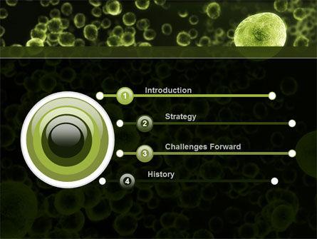 Green Bacteria PowerPoint Template, Slide 3, 09527, Medical — PoweredTemplate.com