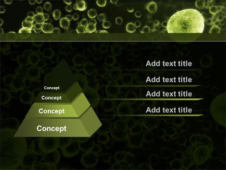 Green Bacteria PowerPoint Template, Slide 4, 09527, Medical — PoweredTemplate.com