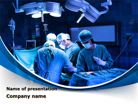 Medical: Surgical Operation In A Blue Palette PowerPoint Template #09528