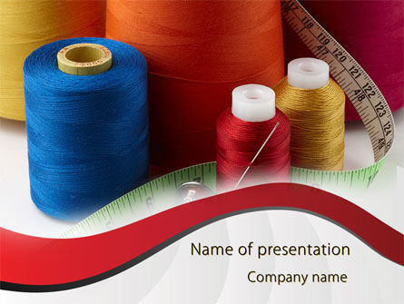 Needle And Threads PowerPoint Template, 09530, Careers/Industry — PoweredTemplate.com