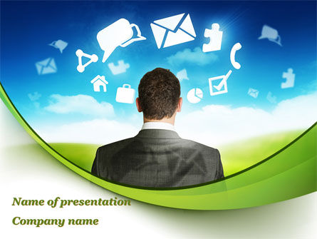 Cloud Services PowerPoint Template, 09533, People — PoweredTemplate.com
