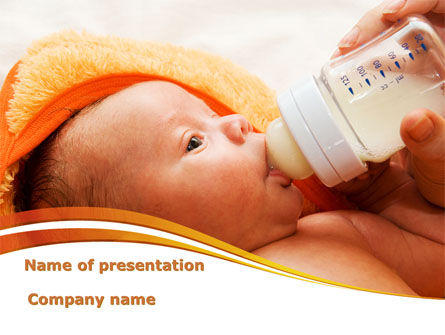 People: Artificial Feeding PowerPoint Template #09538