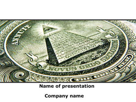 Dollar's Print PowerPoint Template, 09540, Financial/Accounting — PoweredTemplate.com