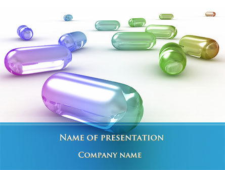 Medical: Blue Pilule PowerPoint Template #09541
