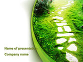 Nature & Environment: Forest Trail PowerPoint Template #09542