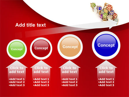 Educational Cubes For Childrens PowerPoint Template Slide 13
