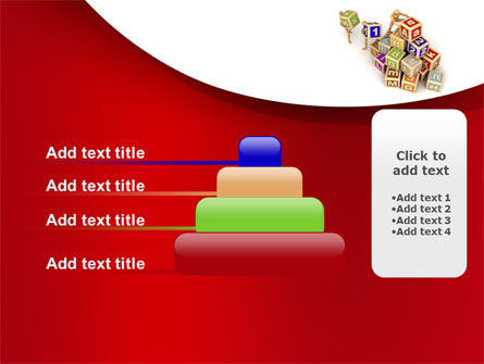 Educational Cubes For Childrens PowerPoint Template Slide 8