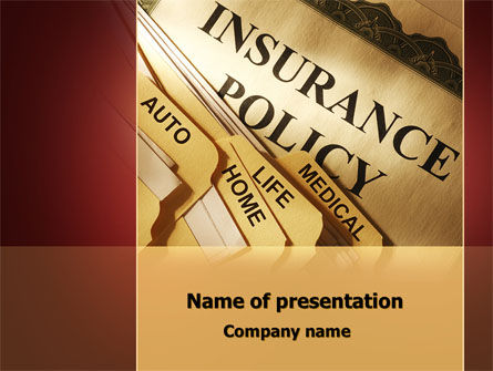 Insurance Policy PowerPoint Template, 09546, Legal — PoweredTemplate.com