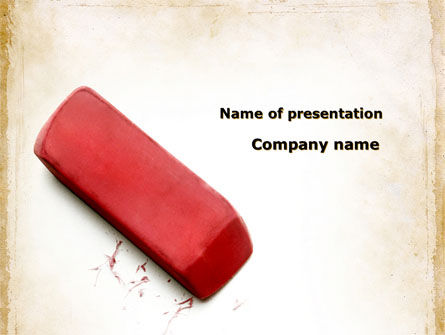 Eraser PowerPoint Template, 09548, Business Concepts — PoweredTemplate.com