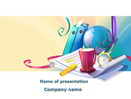Office's Stationery PowerPoint Template, 09550, Business — PoweredTemplate.com