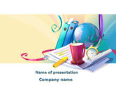 Office's Stationery PowerPoint Template#1
