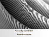 Careers/Industry: Corrugated Pipes PowerPoint Template #09552