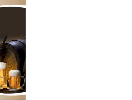 Beer Barrel PowerPoint Template, Slide 3, 09554, Food & Beverage — PoweredTemplate.com