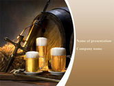 Food & Beverage: Beer Barrel PowerPoint Template #09554