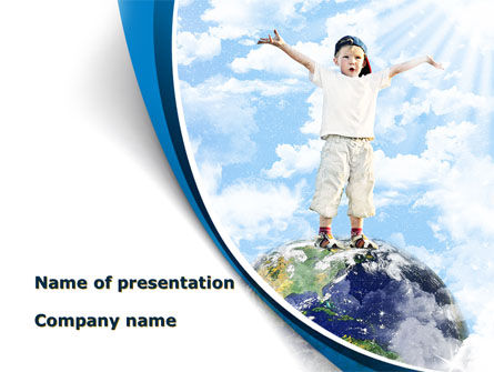 World Is Mine PowerPoint Template, 09555, People — PoweredTemplate.com