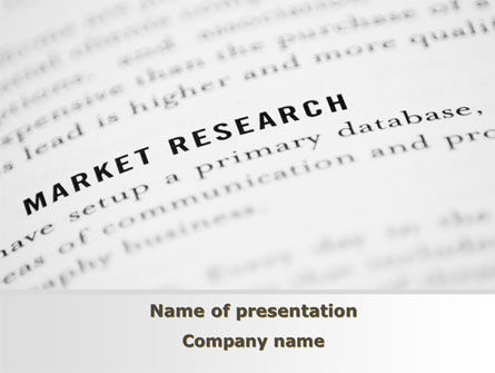 Marketing Study PowerPoint Template, 09556, Consulting — PoweredTemplate.com