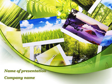 Careers/Industry: Pictures Of Mother Nature PowerPoint Template #09558