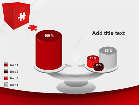 Red Cube Puzzle PowerPoint Template Slide 10