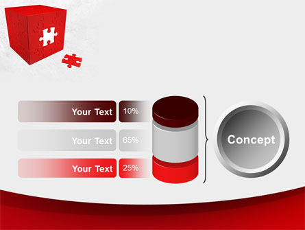 Red Cube Puzzle PowerPoint Template Slide 11
