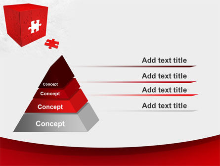 Red Cube Puzzle PowerPoint Template Slide 12