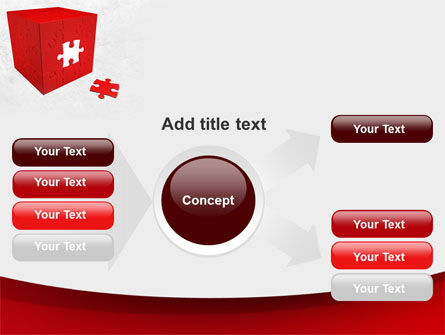 Red Cube Puzzle PowerPoint Template Slide 14