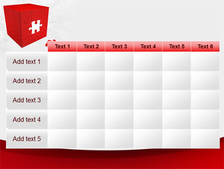 Red Cube Puzzle PowerPoint Template Slide 15