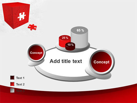 Red Cube Puzzle PowerPoint Template Slide 16