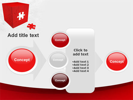 Red Cube Puzzle PowerPoint Template Slide 17