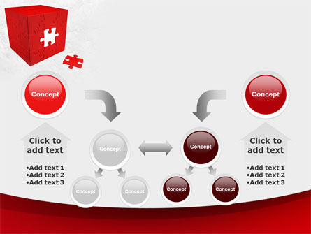 Red Cube Puzzle PowerPoint Template Slide 19