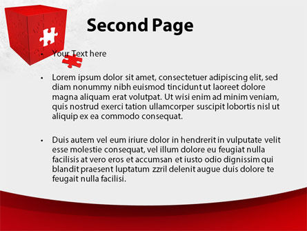 Red Cube Puzzle PowerPoint Template Slide 2