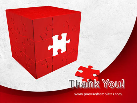 Red Cube Puzzle PowerPoint Template Slide 20