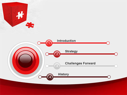 Red Cube Puzzle PowerPoint Template, Slide 3, 09561, Consulting — PoweredTemplate.com