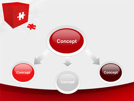 Red Cube Puzzle PowerPoint Template, Slide 4, 09561, Consulting — PoweredTemplate.com