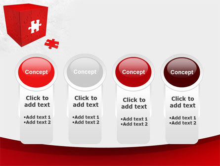 Red Cube Puzzle PowerPoint Template Slide 5