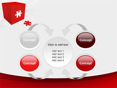 Red Cube Puzzle PowerPoint Template Slide 6