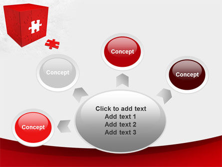 Red Cube Puzzle PowerPoint Template Slide 7