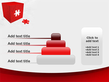 Red Cube Puzzle PowerPoint Template Slide 8