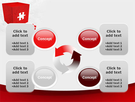 Red Cube Puzzle PowerPoint Template Slide 9