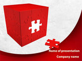 Consulting: Red Cube Puzzle PowerPoint Template #09561
