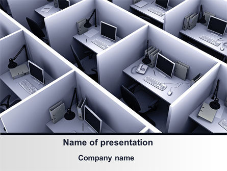 Office Space Cells PowerPoint Template, 09562, Construction — PoweredTemplate.com