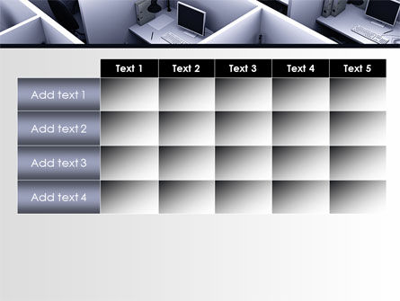 Office Space Cells PowerPoint Template Slide 15