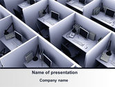 Construction: Office Space Cells PowerPoint Template #09562