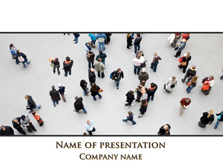 People Mob PowerPoint Template, 09563, People — PoweredTemplate.com