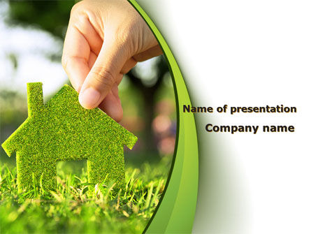 green house building powerpoint template backgrounds 09565